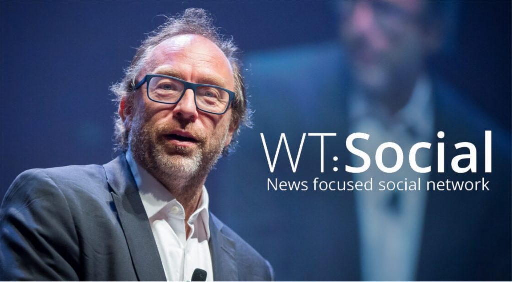Jimmy Wales a co-founder of Wikipedia launches a new social networking site called WT.Social.