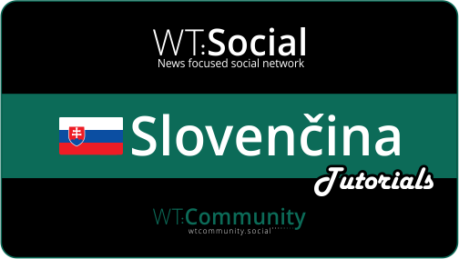 WT:soical Slovencina Tutorials