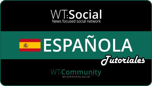 WT:Social Espanola Tutoriales