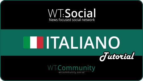 WT:Social Italiano Tutorial