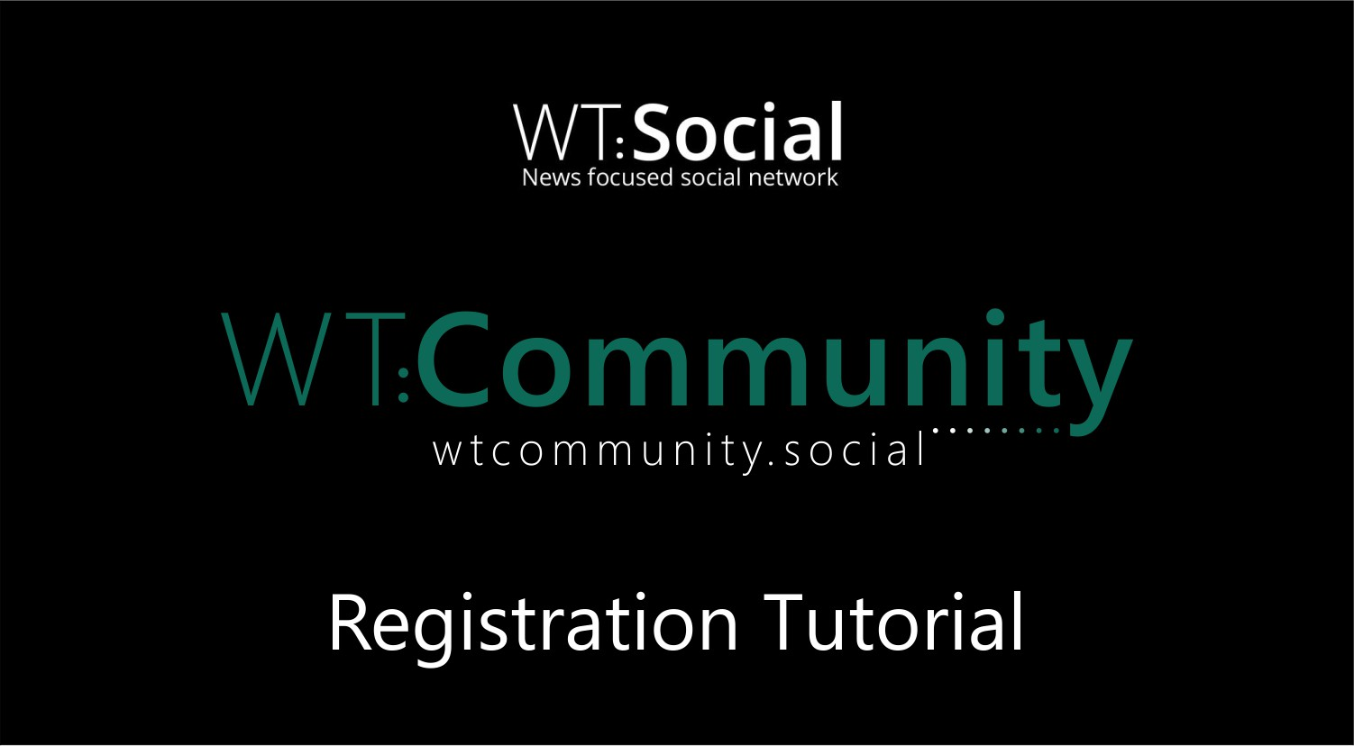 WT.Social Registration Tutorial Video